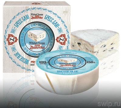 Сыр Bresse Blue т.м. WhiteCheese from Zhukovka, картон 150г