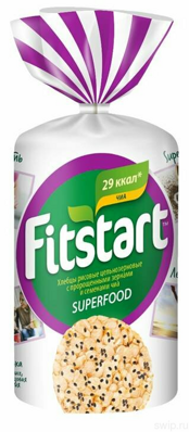 Хлебцы FITSTART рисовые SUPERFOOD с семенами чиа 90 г
